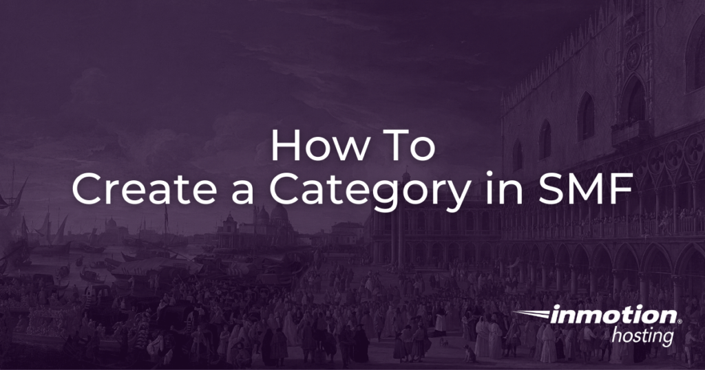 How to create a category in SMF
