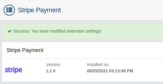 AbanteCart Payment Gateway Installed