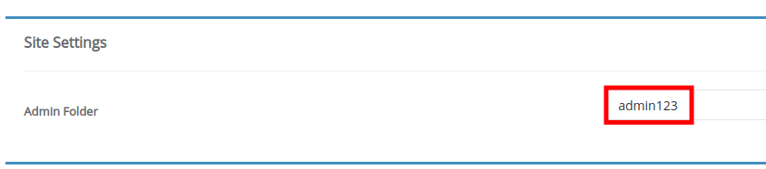Name Your Admin Folder