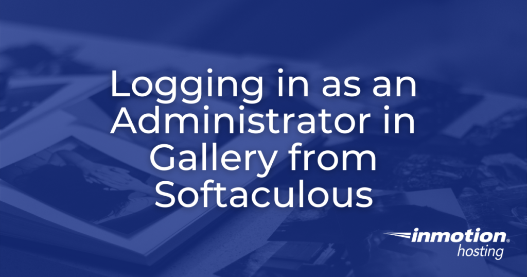 Logging in as an Administrator - header image