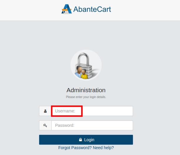 Admin Panel Username