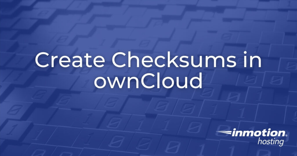 Create Checksums in ownCloud