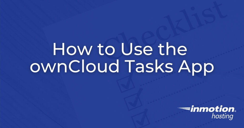 How to Use the ownCloud Tasks App