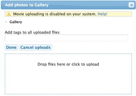 dialog box to add photos
