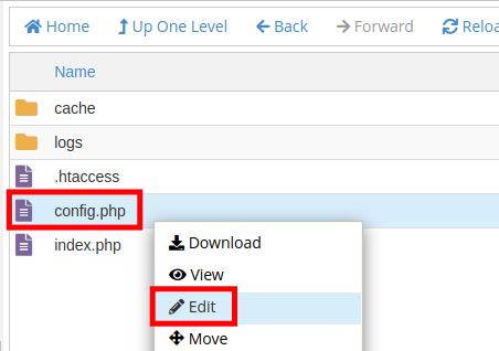 Edit the config.php File for AbanteCart