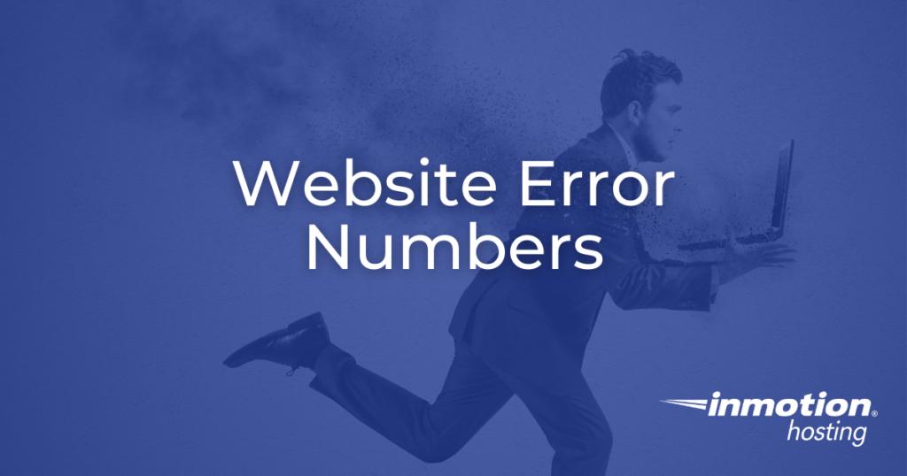 website error numbers - header image