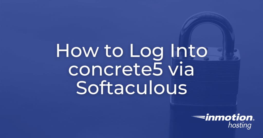 log into concrete5 via softaculous hero image