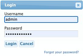 login dialog box