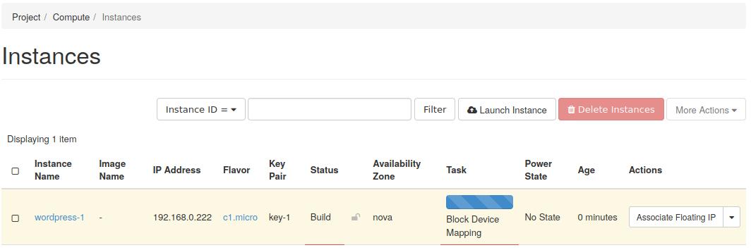 um instance listing