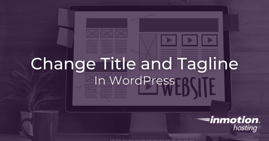 Change site title in WordPress