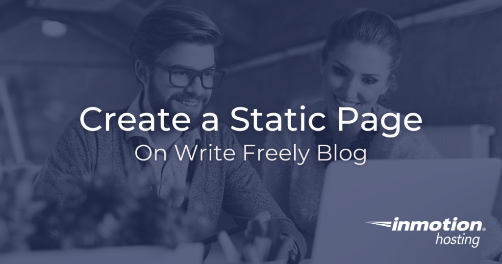 Create a static page in Write Freely blog