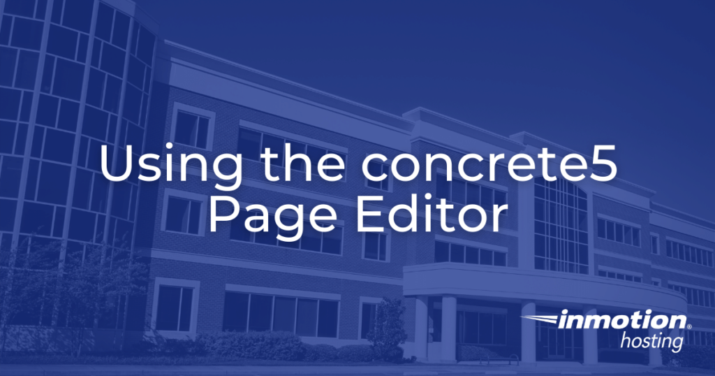 using the concrete5 page editor hero image