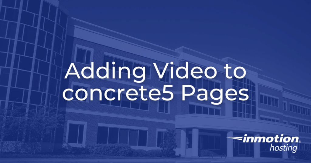 adding video to concrete5 pages hero image