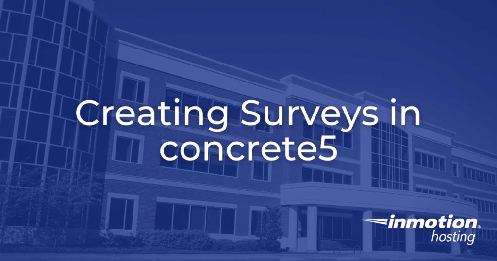 surveys in concrete5 hero image