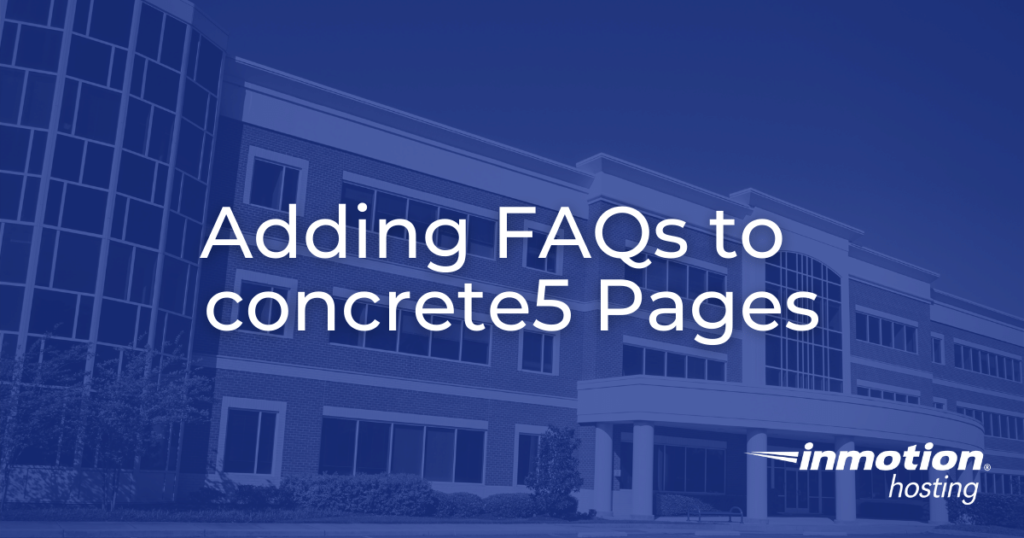 adding faqs to concrete5 pages hero image