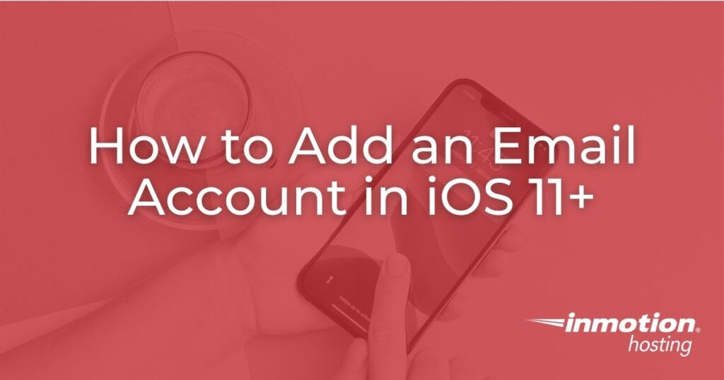 Add an email account in iOS - header image