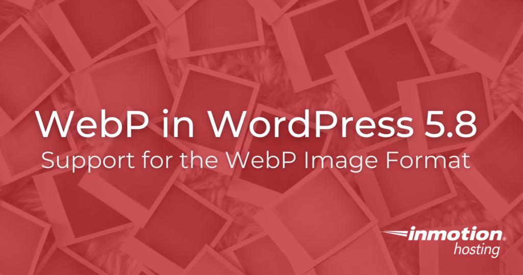 WebP in WordPress 5.8 title image
