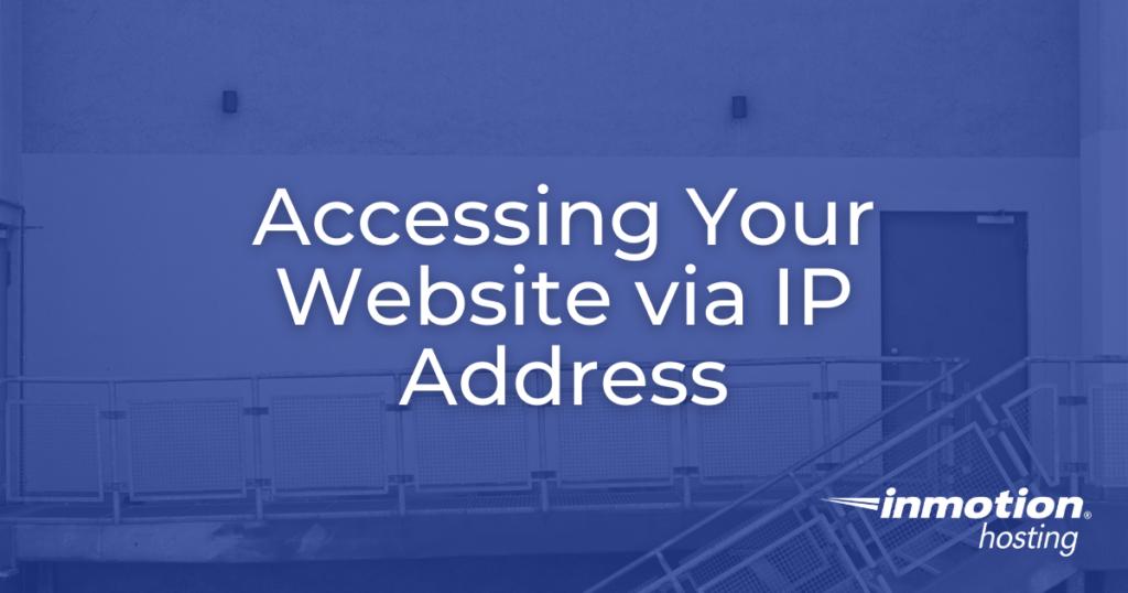 website via IP address hero image