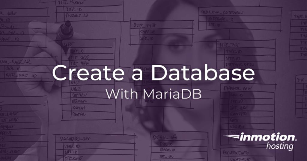 Create a database with MariaDB