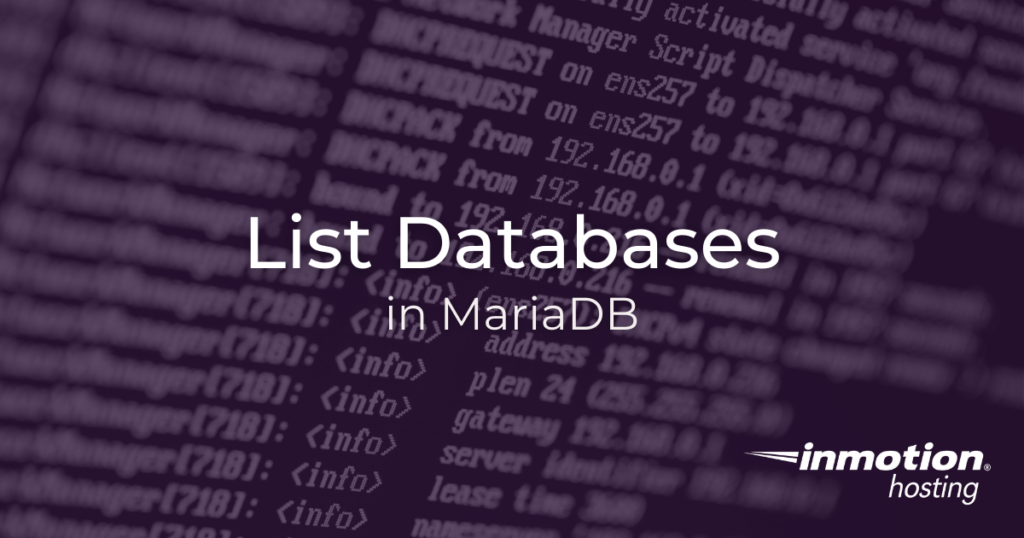 How to List Databases In MariaDB