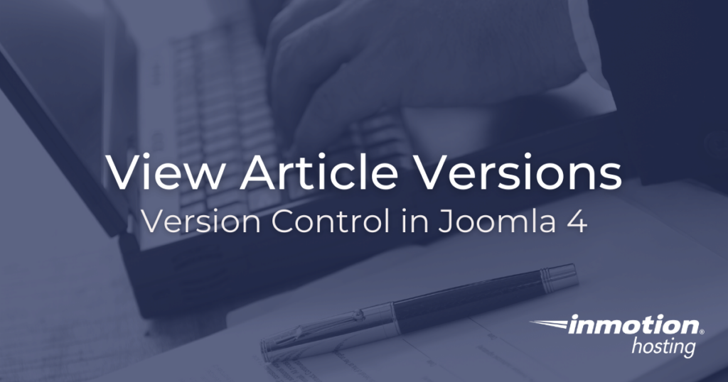 View article versions in Joomla 4