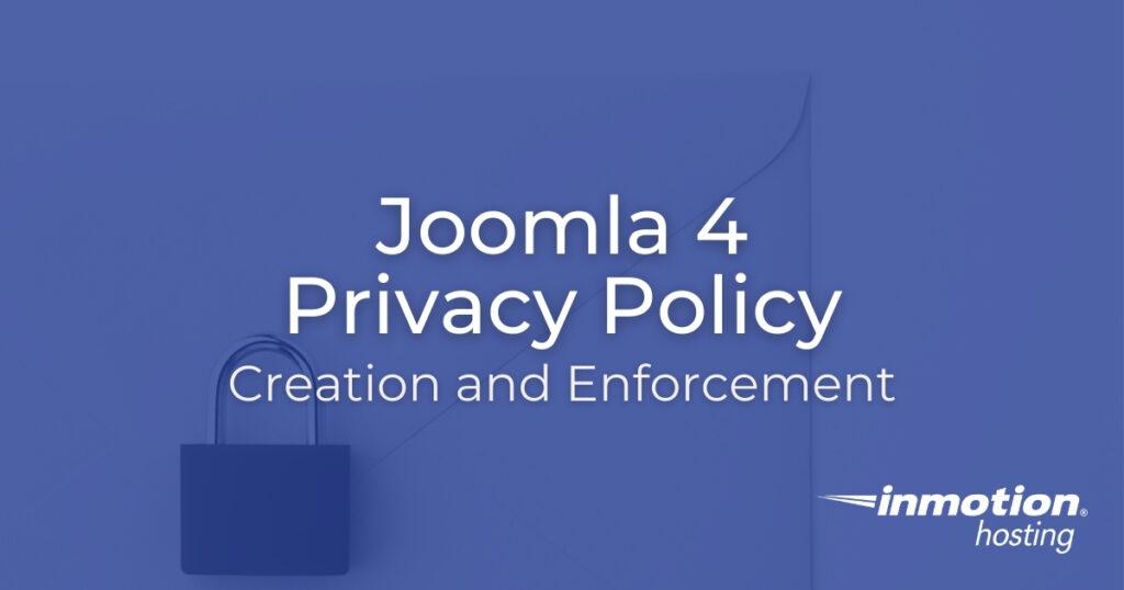 Joomla 4 Privacy Policy