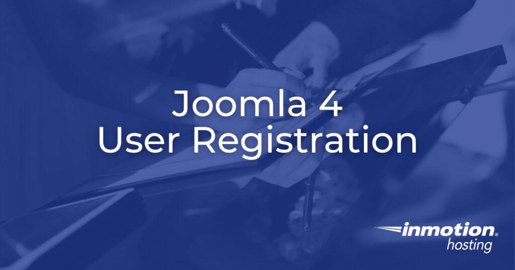 Joomla 4 User Registration