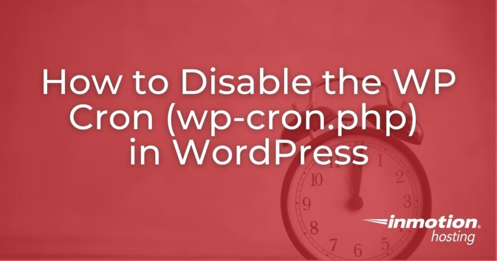 Disable the WP Cron in WordPress header image