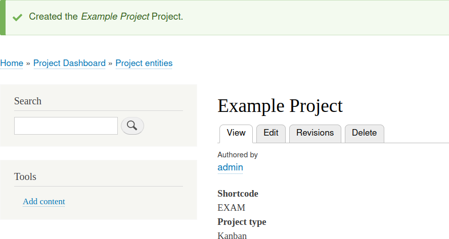 Drupal Burndown Project Example