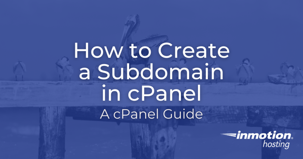 How to Create a Subdomain in cPanel Title Image