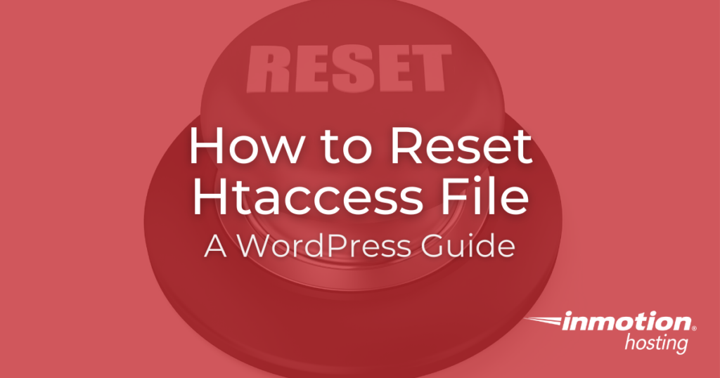 how to reset htaccess file title image
