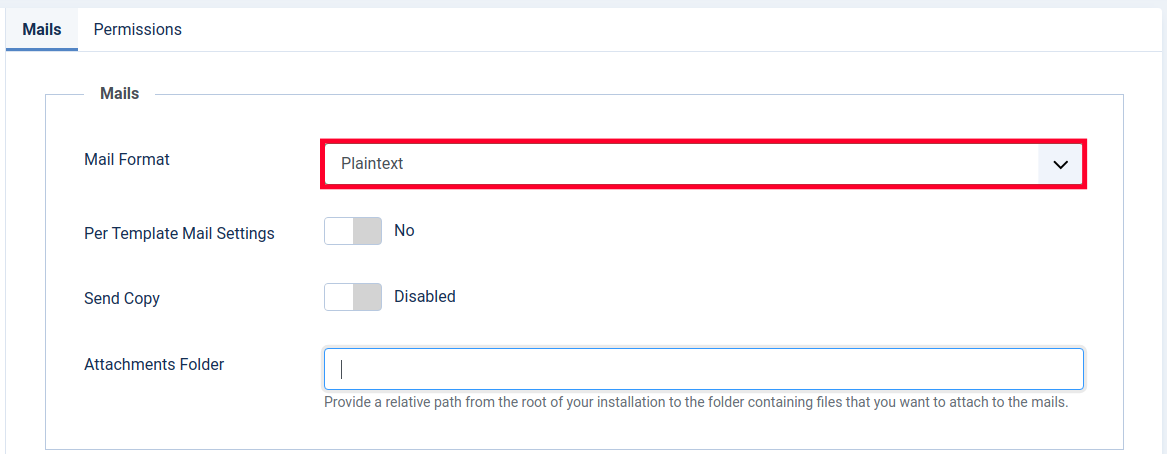 Changing the Mail Format in Joomla 4
