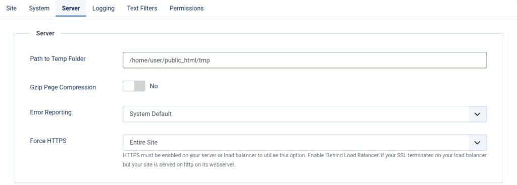 Force HTTPS on Joomla 4