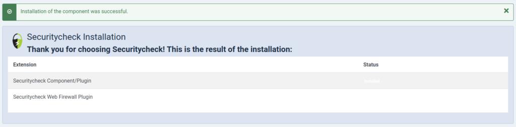 Joomla 4 Securitycheck Installed