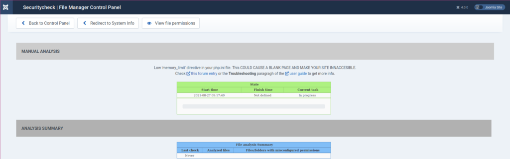 Joomla Securitycheck File Manager