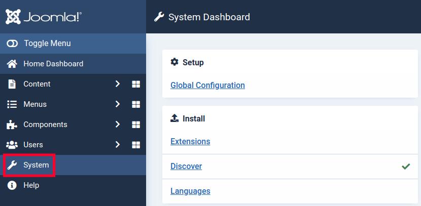 Joomla 4 Statistics - System Settings
