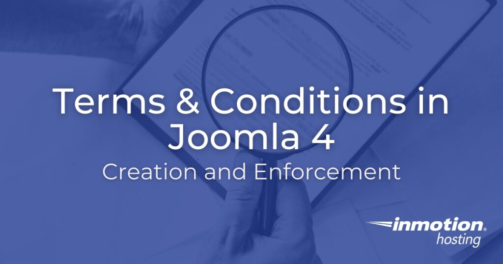 Terms & Conditions in Joomla 4