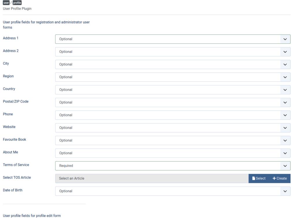 Joomla 4 User Profile Plugin