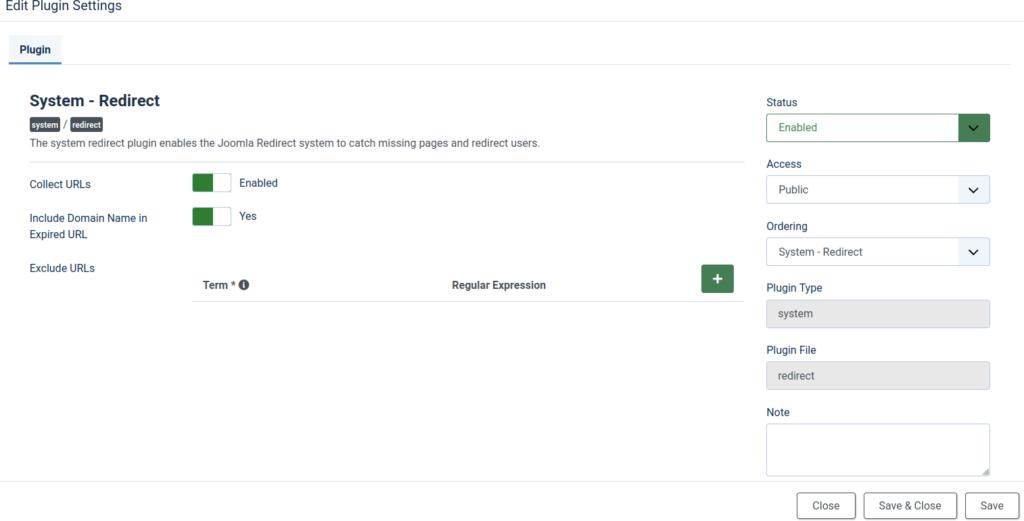 Redirects Plugin for Joomla 4 SEO