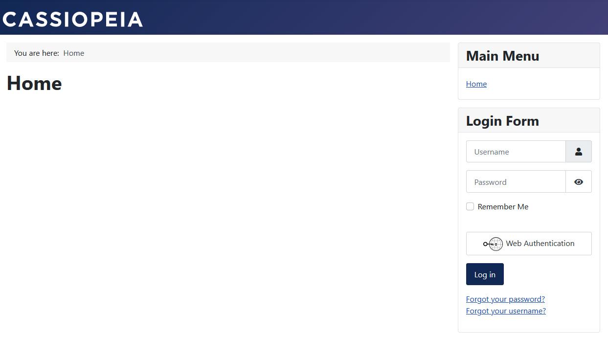 Joomla 4 site - no sample data