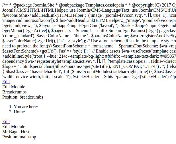 Broken Joomla site