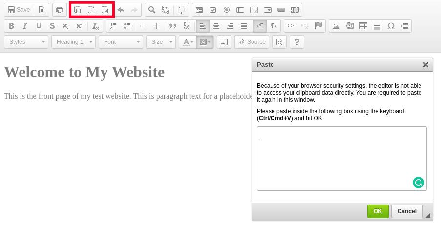 HTML Editor Paste Tool
