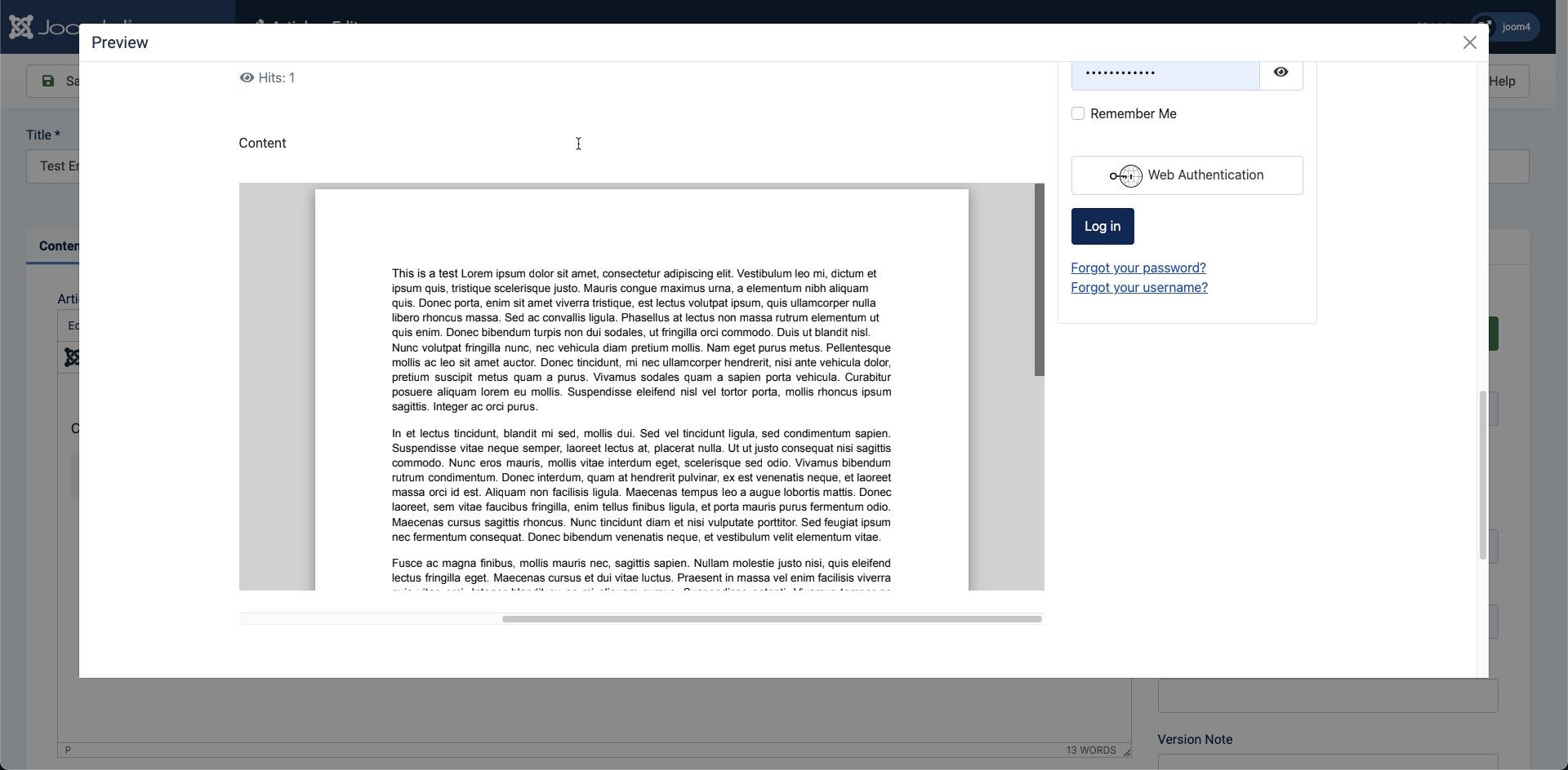 PDF file embedded