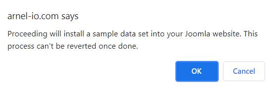 Sample data warning