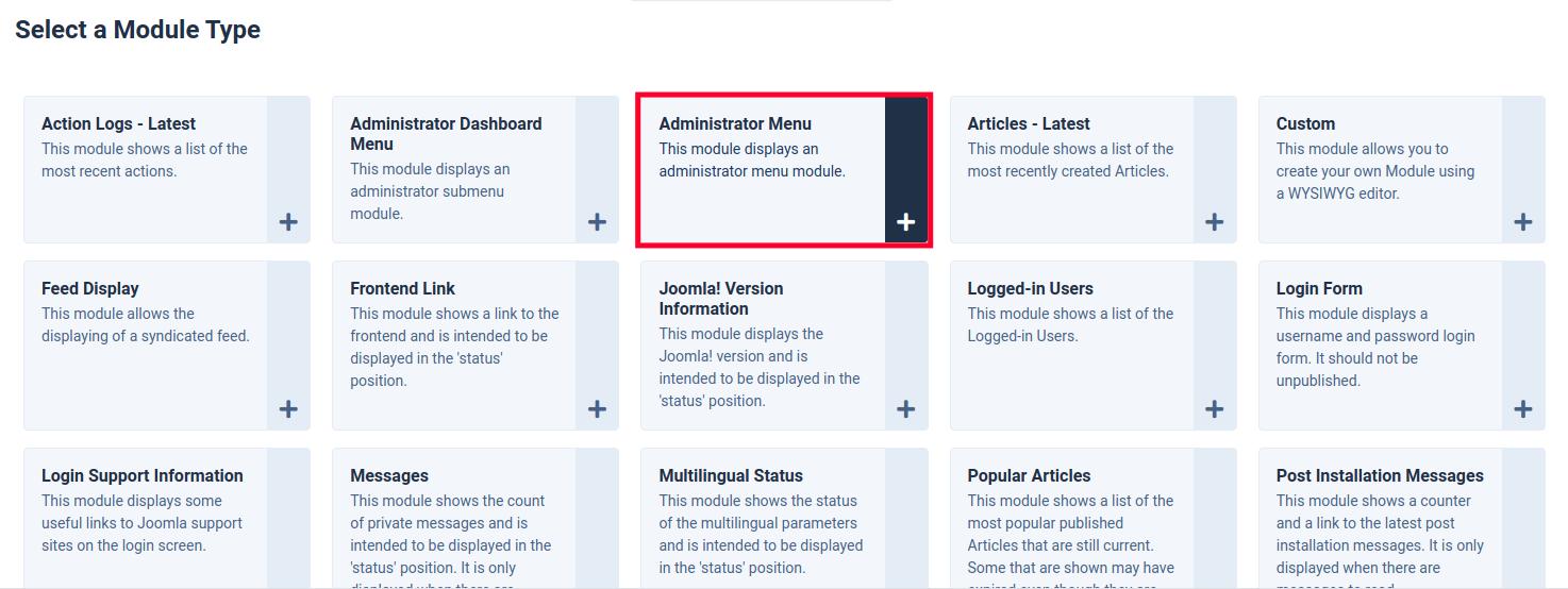 Choosing a Joomla Module