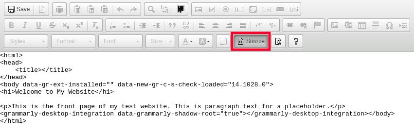 Edit HTML Source Code