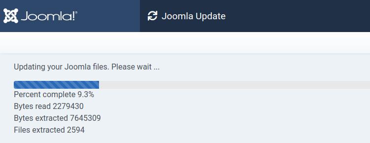 Joomla 4 Update Progress