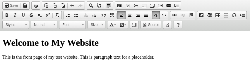 Using the Visual HTML Editor in cPanel
