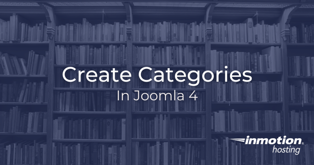 How to create categories in Joomla
