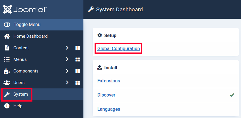 Joomla 4 Text Filters - Global Configuration